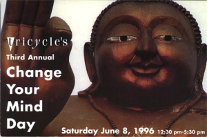 """Change Your Mind Day, Central Park, 6-8-96 (I was a """"Dharma Cop"""", discreetly herding people)."""