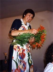 Marcia Shibata: Ikebana Class. ZMM, 6-15-96