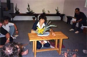 Ikebana demonstration. 6-15-96