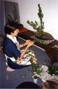 Marcia's Ikebana workshop. 6-15-96
