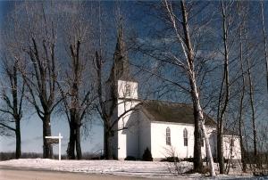 Juddville Lutheran Church (taken the following winter).