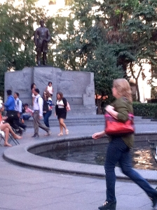 (Fuzzy) Admiral Farragut, by Reflecting Pool