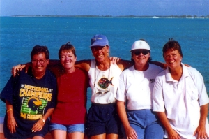 The FL Gang: Marsha, Mary Ellen, Peri, Susie, Dorm.