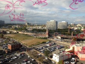 View of Broad St. Sta. with squiggles