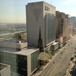 Squished church: view from 15th-floor lunch room