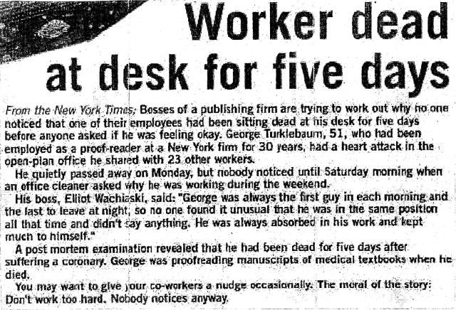 Dead Proofreader