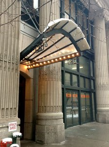 28 West 23rd Street: snowy awning