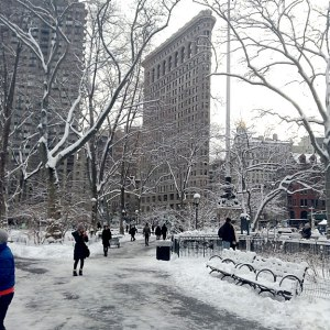Flatiron Building from Park