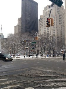 5th Ave. and 23rd: looking toward the Park